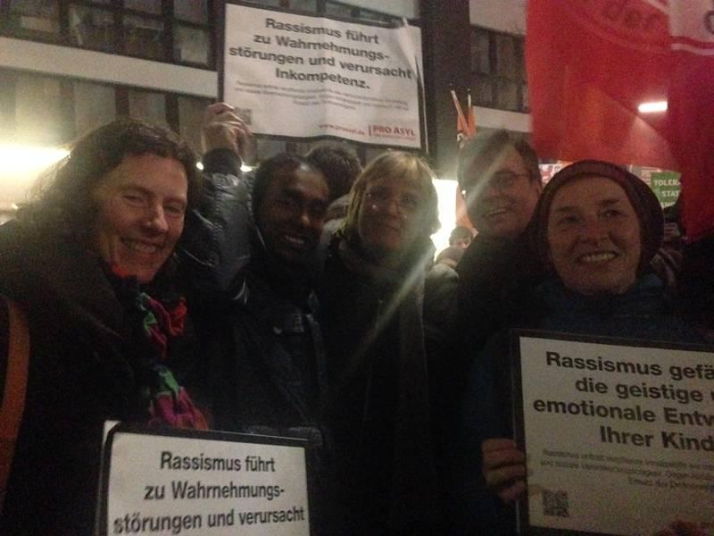 Neusser Grüne bei der Anti-Pegida-Demo am 12.1.2015