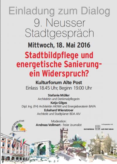 9. Neusser Stadtgespräch in der alten Post @ Kulturforum Alte Post   Neuss   Nordrhein-Westfalen   Deutschland