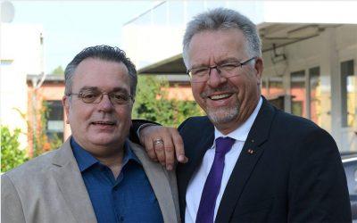 Ungleiche Brüder: Uwe und Dieter Welsink (r.) sitzen demnächst im Stadtrat nebeneinander und bilden eine besondere Variante von Schwarz-Grün. Foto WOI