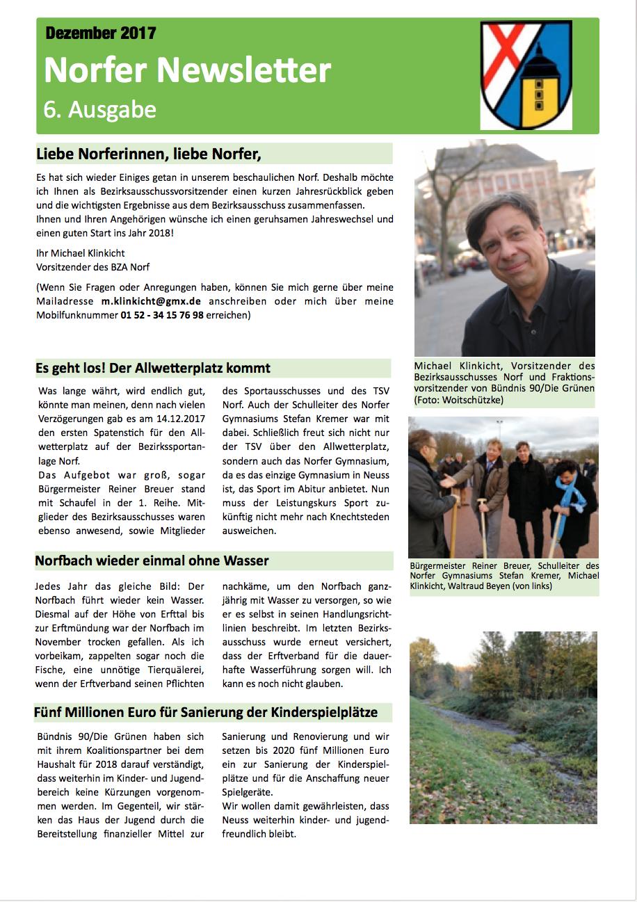 Norfer Newsletter Dezember 2018