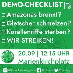 KLIMA-DEMO @ Vor der Marienkirche | Neuss | Nordrhein-Westfalen | Deutschland