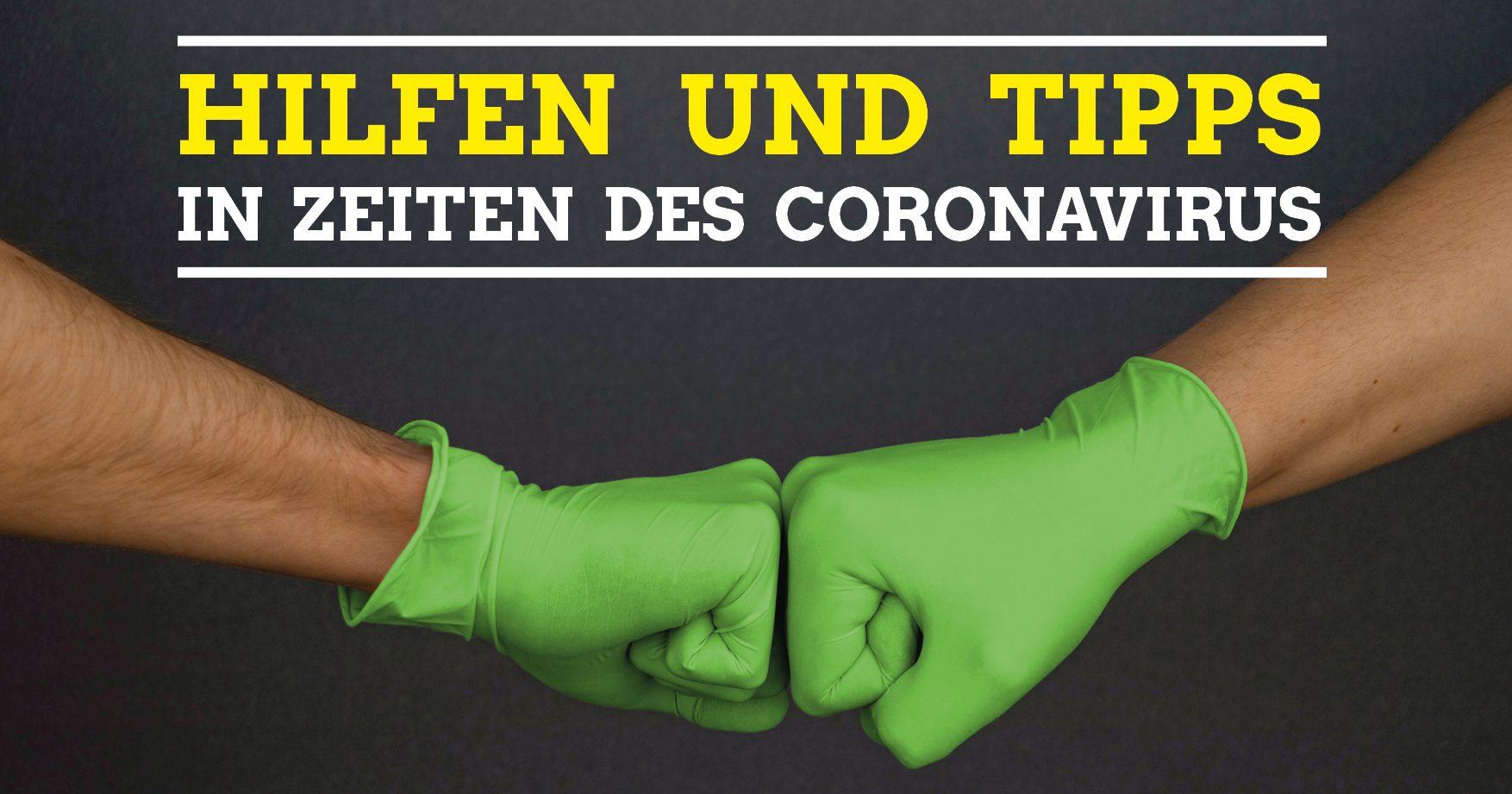 Auf einen Blick: Hilfe in Zeiten des Coronavirus