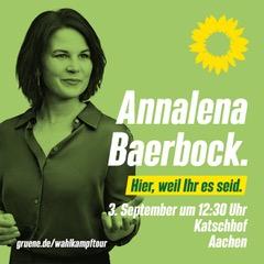 Annalena Baerbock in Aachen