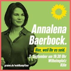Annalena Baerbock in Köln @ Wilhelmsplatz | Köln | Nordrhein-Westfalen | Deutschland
